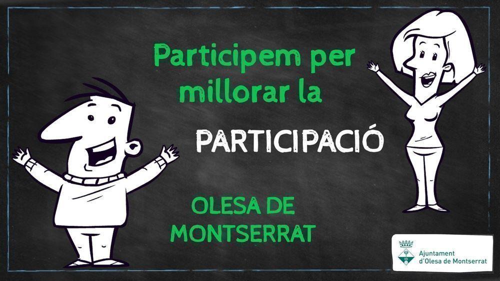 PARTICIPEM PER MILLORAR LA PARTICIPACIÓ A LA NOSTRA VILA
