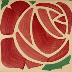 Imatge rajola rosa modernista