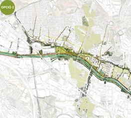 PROPOSTA 2: Un parc urbà i urbanitzat a la vora del riu