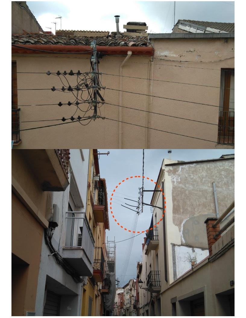 Supressió de la línia elèctrica aèria al carrer Santa Oliva